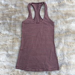 Lululemon Cool Racerback Striped Tank Top